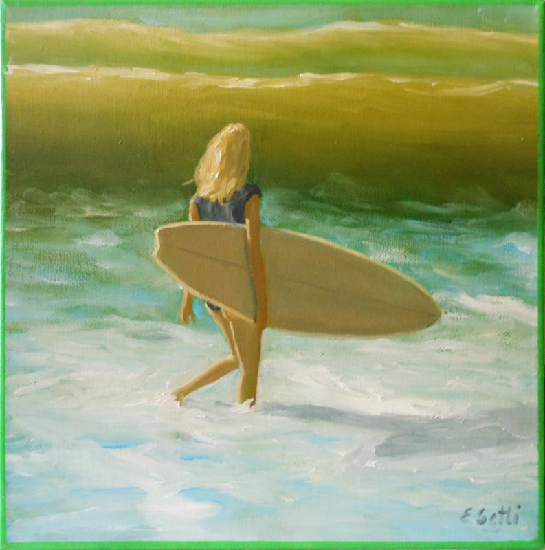Surfer with Waves