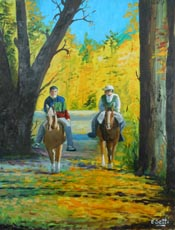 Autumn horseback ride